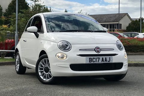 White FIAT 500 Pop Star 2017