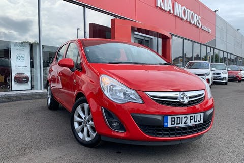Red Vauxhall Corsa Active Ac 2012
