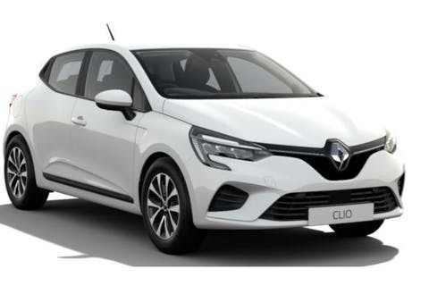 White Renault Clio Iconic Tce 2021