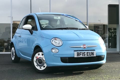 Blue FIAT 500 Colour Therapy 2015