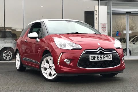 Red Citroen Ds 3 Puretech Dstyle Ice S/S 2015