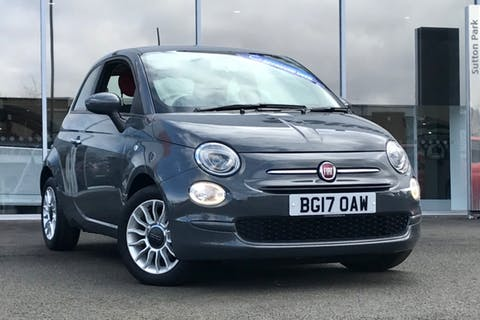 Grey FIAT 500 Pop Star 2017