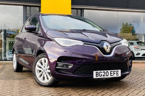 Purple Renault Zoe I Iconic R135 Rapid Charge 2020