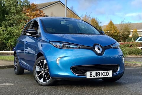 Blue Renault Zoe Dynamique Nav Quick Charge 2018