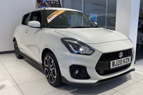 White Suzuki Swift Sport Boosterjet 2020