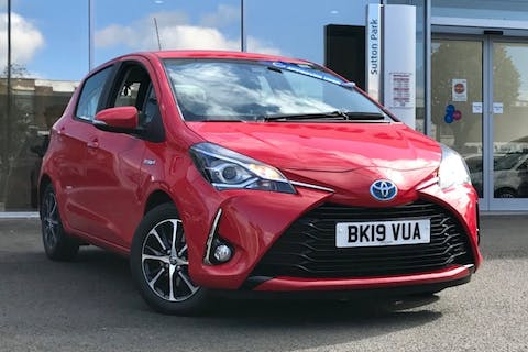 Red Toyota Yaris VVT-i Icon Tech 2019