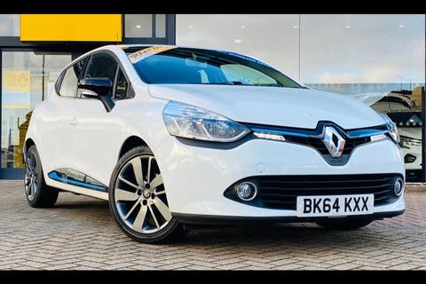 White Renault Clio Dynamique S Medianav Energy Tce S/S 2014