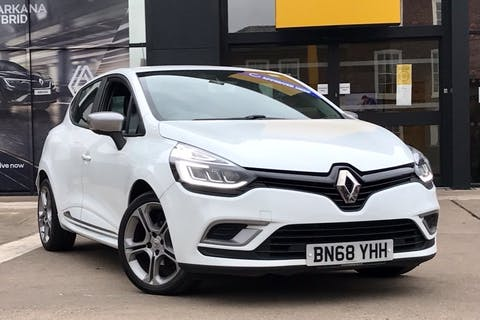 White Renault Clio GT Line Tce 2018