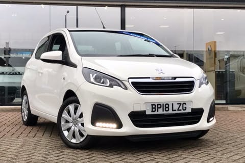 White Peugeot 108 Active 2018