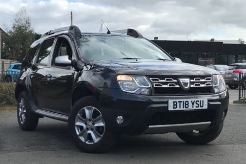 Black Dacia Duster Nav Plus Tce 2018