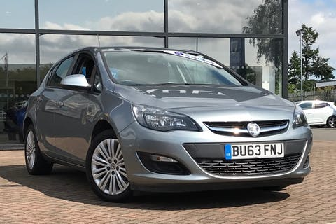 Silver Vauxhall Astra Energy 2013
