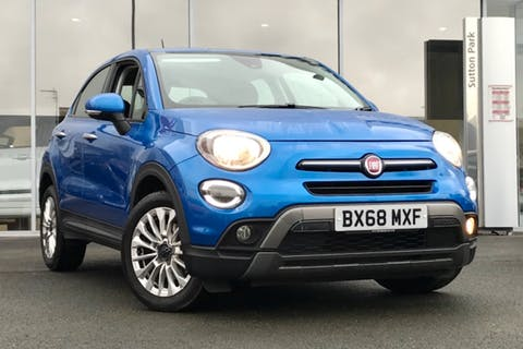 Blue FIAT 500x City Cross 2018
