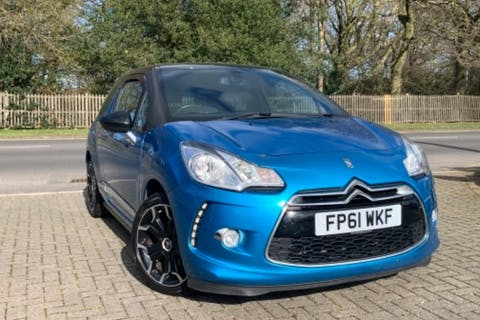 Blue Citroen DS 3 E-hdi Dstyle Plus 2011