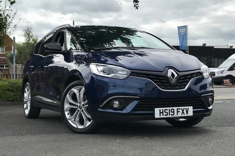 Blue Renault Grand Scenic Iconic Tce 2019