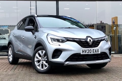 Grey Renault Captur Iconic Tce 2020