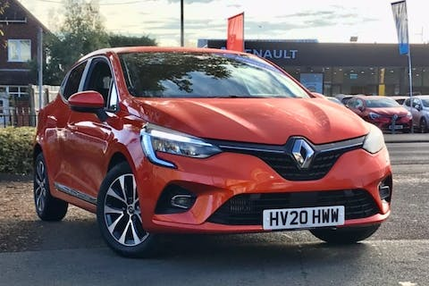 Orange Renault Clio Iconic Tce 2020