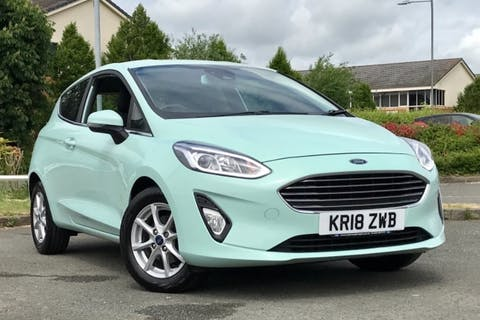 Green Ford Fiesta B And O Play Zetec 2018