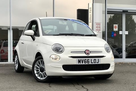 White FIAT 500 Pop Star 2016