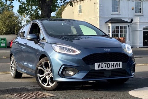 Blue Ford Fiesta ST-Line Edition 2020
