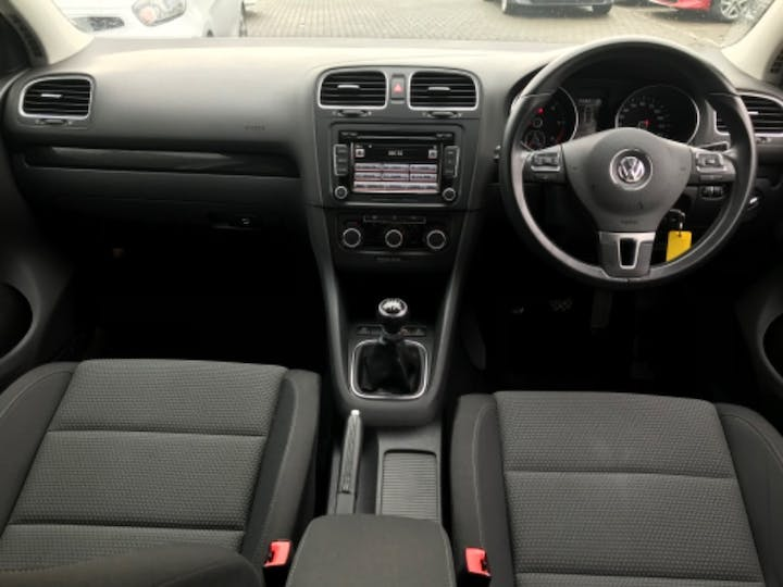 White Volkswagen Golf Match TDI Bluemotion Technology 2012