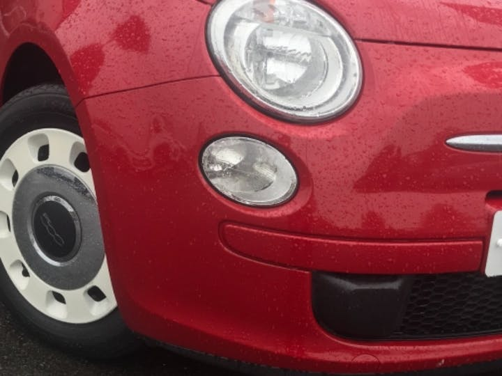 Red FIAT 500 Colour Therapy 2014