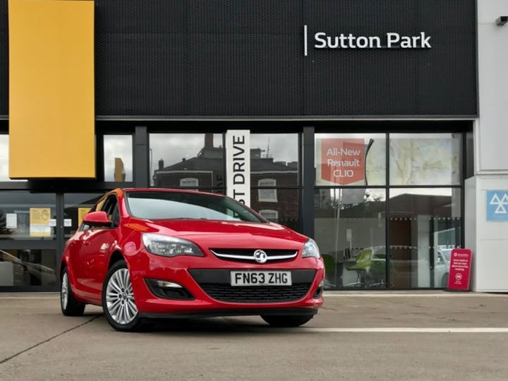 Red Vauxhall Astra Energy 2013